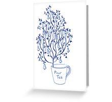 Pear Tea Greeting Card