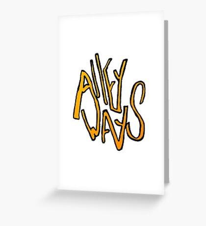 Alleyways Logo Greeting Card