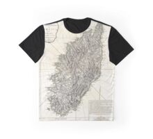 Vintage Map of Corsica (1794)  Graphic T-Shirt
