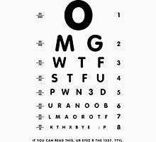 OMG 1337 eyesight chart Unisex T-Shirt