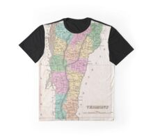 Vintage Map of Vermont (1827) Graphic T-Shirt