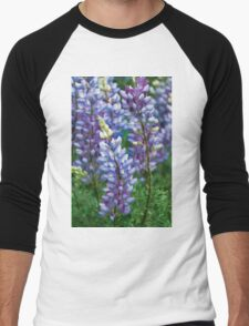 Dancing Lupines - Spring In Central California Men's Baseball ¾ T-Shirt