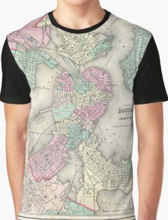 Vintage Map of Boston Harbor (1857) Graphic T-Shirt