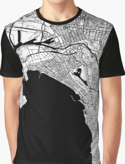 Melbourne Map Graphic T-Shirt