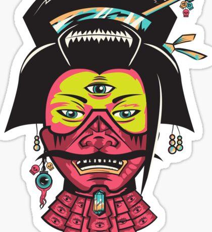 Samurai Geisha Sticker