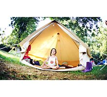 Meditation in the tent Photographic Print