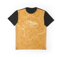 Pink Roses in Anzures 3 Outlined Orange Graphic T-Shirt