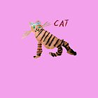 Cat on Pink by ubiquitoid