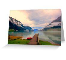 Norwegian Landscape IV Greeting Card