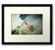 Yoga meditation in New York Framed Print