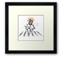 Pedestrian and Rhino Framed Print