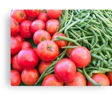 Farm Fresh Tomatoes and Beans Canvas Print