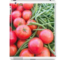 Farm Fresh Tomatoes and Beans iPad Case/Skin