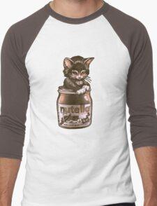 Kitten <3 Nutella Men's Baseball ¾ T-Shirt