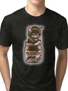 Kitten <3 Nutella Tri-blend T-Shirt