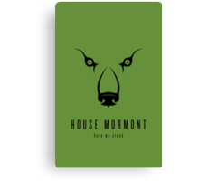 House Mormont Minimalist Poster Canvas Print