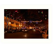 Holiday Streetscape Art Print