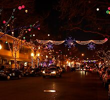 Holiday Streetscape by Lourdes Juarez