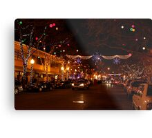 Holiday Streetscape Metal Print