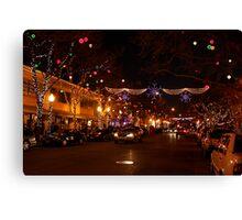 Holiday Streetscape Canvas Print
