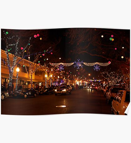 Holiday Streetscape Poster