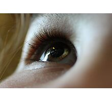 The eyes are the window to...the soul Photographic Print