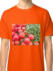 Farm Fresh Tomatoes and Beans Classic T-Shirt