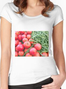 Farm Fresh Tomatoes and Beans Women's Fitted Scoop T-Shirt