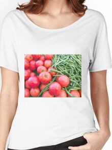 Farm Fresh Tomatoes and Beans Women's Relaxed Fit T-Shirt
