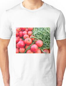 Farm Fresh Tomatoes and Beans Unisex T-Shirt