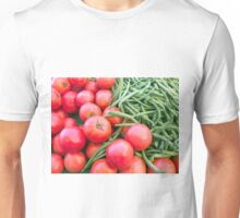 Farm Fresh Tomatoes and Beans Unisex T-Shirt