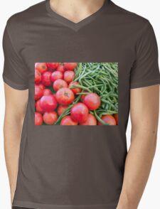 Farm Fresh Tomatoes and Beans Mens V-Neck T-Shirt