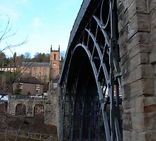 Iron bridge & church  by yampy