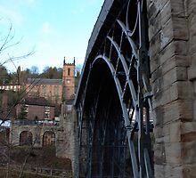 Iron bridge & church  by yampy