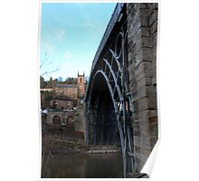 Iron bridge & church  Poster