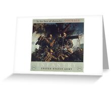 U.S. Infantry Vintage Poster Greeting Card