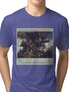 U.S. Infantry Vintage Poster Tri-blend T-Shirt