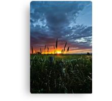 Corner Sunset Canvas Print