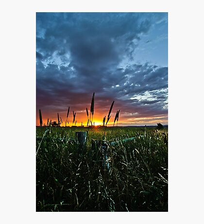 Corner Sunset Photographic Print