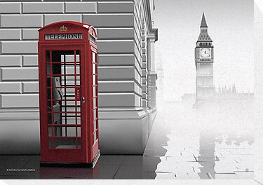 London (Vectorillustration) by CarolinaMatthes