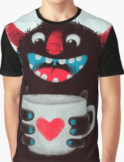 Demon with cup Graphic T-Shirt