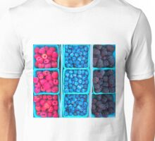 Farm Fresh Berries - Raspberries Blueberries Blackberies Unisex T-Shirt
