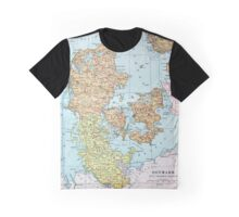 Vintage Map of Denmark (1905)  Graphic T-Shirt