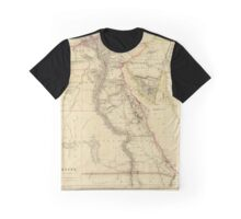 Vintage Map of Egypt (1832)  Graphic T-Shirt