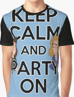 Keep Calm and Party On Graphic T-Shirt