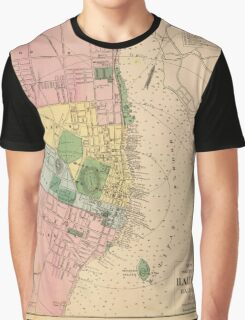 Vintage Map of Halifax Nova Scotia (1878) Graphic T-Shirt
