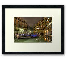 Resting Gondola , Venice, Italy  Framed Print