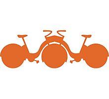 Orange Tricycle Photographic Print