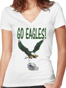 Eagles Vs. Dallas Women's Fitted V-Neck T-Shirt