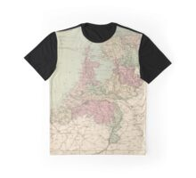 Vintage Map of Holland (1873)  Graphic T-Shirt